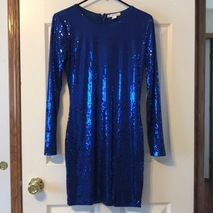 Sparkly Blue mini dress worn once!